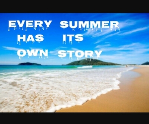 beach, summer, and story image