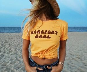 beach, girl, and fashion image