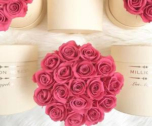 box, flowers, and gift image