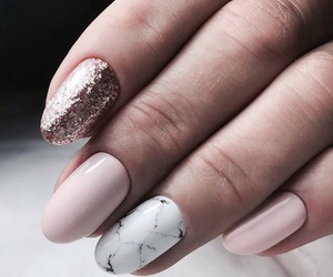 nails, beautiful, and pink image