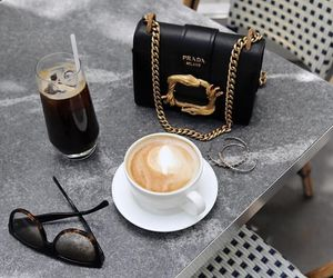 cafe, clutch, and coffee image