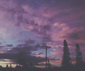 sky, clouds, and purple image