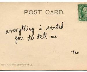 art, postcard, and quote image