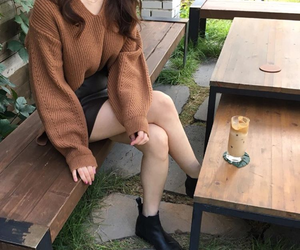 asian, brown, and cafe image