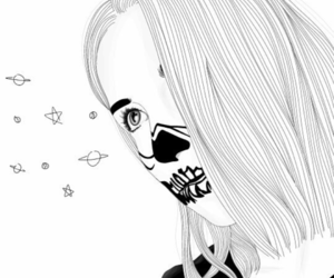 black and white, draw, and dreams image