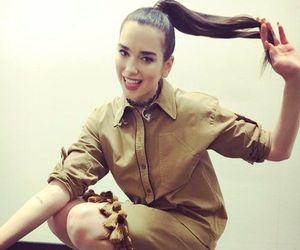 baby, ponytail, and lipa image
