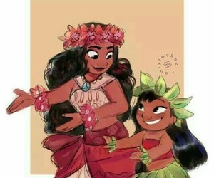 disney, lilo, and moana image