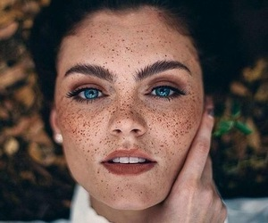 beautiful, freckles, and fall image
