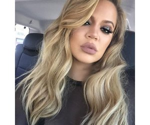 khloe kardashian, hair, and makeup image