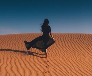 girl, fashion, and desert image