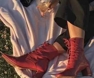 red, sundet, and shoes image