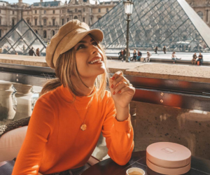 fashion, orange, and paris image