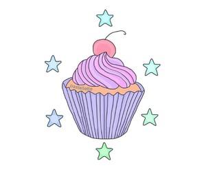 cherry, cupcake, and magic image