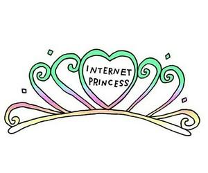 princess, internet, and crown image