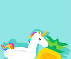 unicorn, summer, and wallpaper image