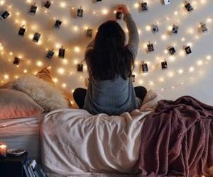 bed, christmas, and girl image