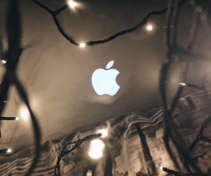 iphone, lights, and Logo image