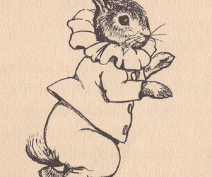 beatrix potter, print, and bunny image