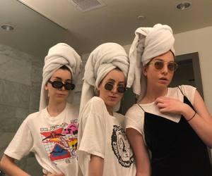 girl power, sisters, and towel image