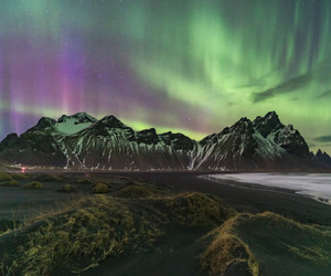 iceland, light, and nature image