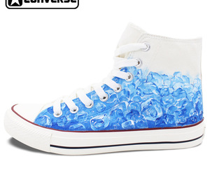 blue, converse, and ice image