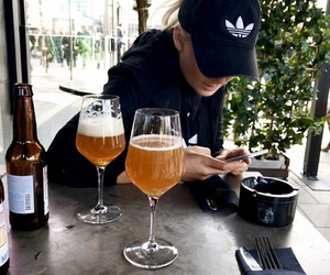 adidas, beer, and lunch image