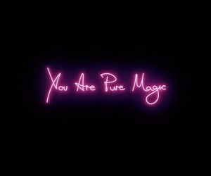 art, magic, and neon image