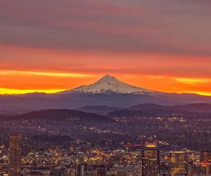 mt. hood, sunrise, and oregon image