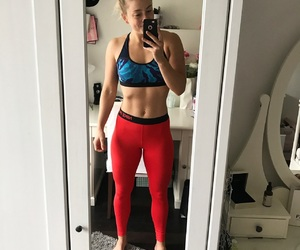 abs, clothes, and gym image
