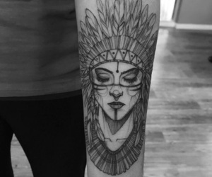 tattoo, arm, and girl image
