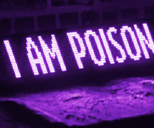 purple, poison, and tumblr image