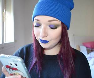 bluelipstick, meritocracyforbeauty, and bluehat image