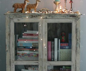 christmas, shelves, and lights image