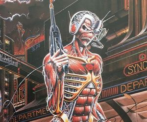 iron maiden, metal, and somwhere in time image