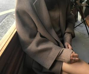 brown, coat, and fashion image