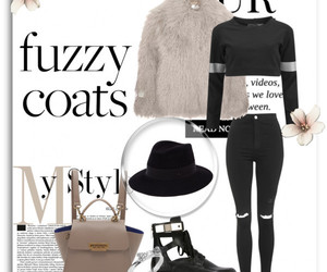 ankle boots, black, and coat image
