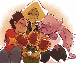 amethyst and sunflowers image