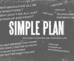be strong, i refuse, and simple plan image