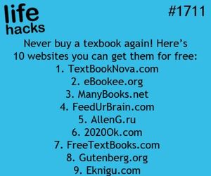 life hacks, school, and textbook image