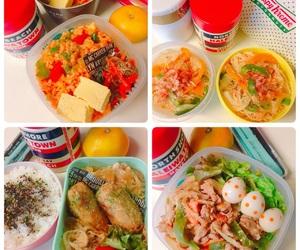 lunch, お弁当, and bento image
