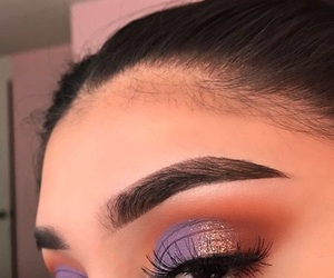 makeup, make, and purple image