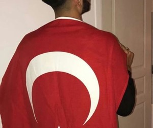 turkish boy, turkish flag, and turkish boys image