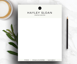 personal branding, letterhead, and stationary image