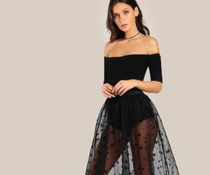 black sheer dress image