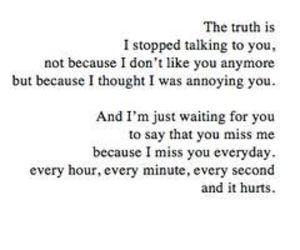 quotes, i miss you, and sad image