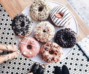 chocolate, donuts, and dessert image
