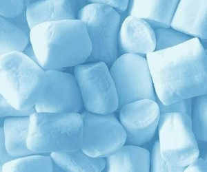 aesthetic, blue, and marshmallow image