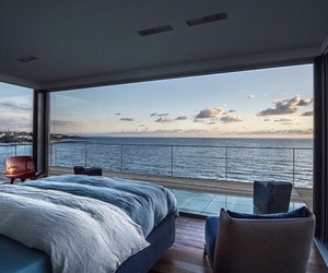 bedroom, sea, and home image