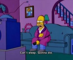 homer, simpsons, and sleep image