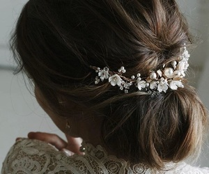bride, feelings, and hairstyle image